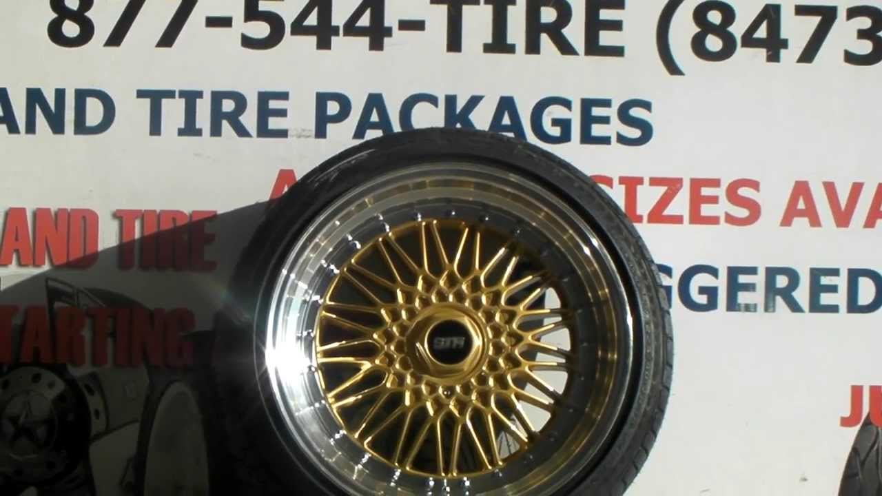 18 Inch Tires >> www.DUBSandTIRES.com 18 Inch STR Racing 606 Gold BBS Replica wheels & tires shipped 877-544-8473 ...