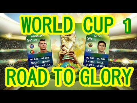 PS4 | FIFA 14 ULTIMATE TEAM WORLD CUP ROAD TO GLORY | EP.1 | VERY HIGH RATED PLAYER!!