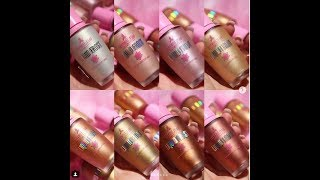 ANOTHER SWATCH JEFFREE STAR COSMETICS LIQUID FROST HIGHLIGHTERS