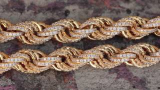 The 10mm, 14K Gold CZ Rope Chain | CZ Chains | King Ice