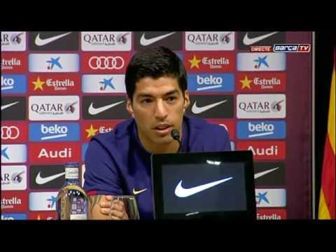 Presentación de Luis Suárez como nuevo jugador del Barça, íntegra