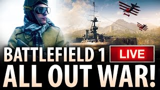 BATTLEFIELD 1 LIVE - Early Access PC Ultra Multiplayer Gameplay on New Map Fao Fortress!