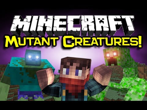 Minecraft MUTANT CREATURES MOD Spotlight - Zomg... RUN! (Mutant Creepers & Mutant Zombies)