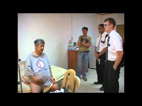 Mormon missionaries visited the sick Bro. Jesus Apeta, Jr. at Pangasinan Hospital