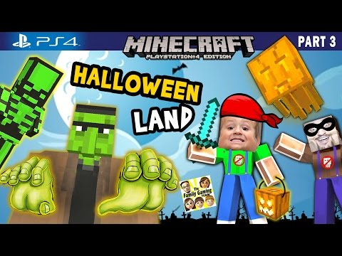 Chase & Duddy play in MINECRAFT Halloween Land w/ Nether & The End DLC (FGTEEV  PS4 Part 3 Gameplay)