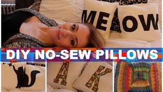 DIY No-Sew Pillows! Room Decor!