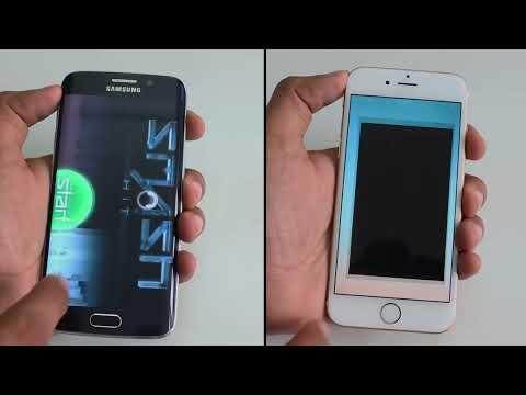 Samsung Galaxy S6 Edge vs iPhone 6 Speed Test 4K