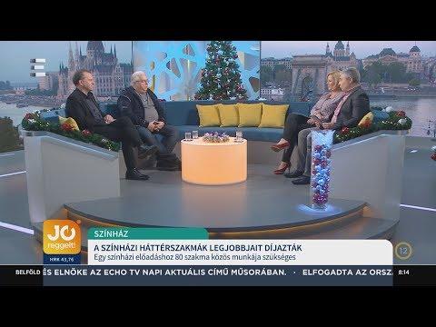 A színházi háttérszakma legjobbjait díjazták - Oberfrank Pál, Prágai Tibor Tivadar - ECHO TV