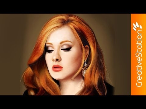 Adele - Speed Painting (#Photoshop) | CreativeStation