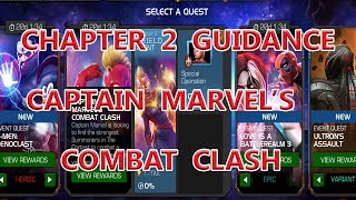 CAPTAIN MARVEL'S COMBAT CLASH CHAPTER 2 GUIDANCE TIPS & TRICKS marvel contest of champion