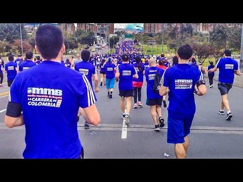 Corriendo en la Media Maratón de Bogotá