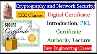 Digital Certificate Introduction, PKI, Certificate Authority Lecture in Hindi