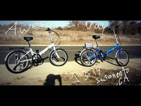 Our first ride on the bikes in Sacramento CA Vlog # 69