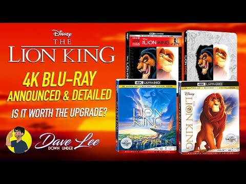 THE LION KING - 4K Blu-ray Announced & Detailed, Is It Worth The Upgrade?