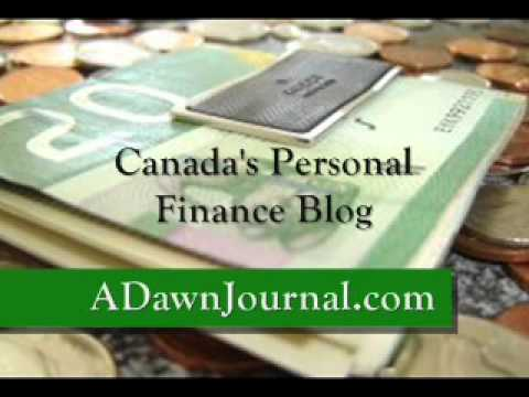 Canada's Personal Finance Blog A Dawn Journal Intro