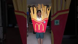 Fancy dress competition French fries