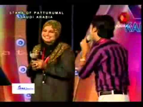 Rahana & Shameer old mappila COMADY SONG ON PATTURUMAL STAGE SHOW