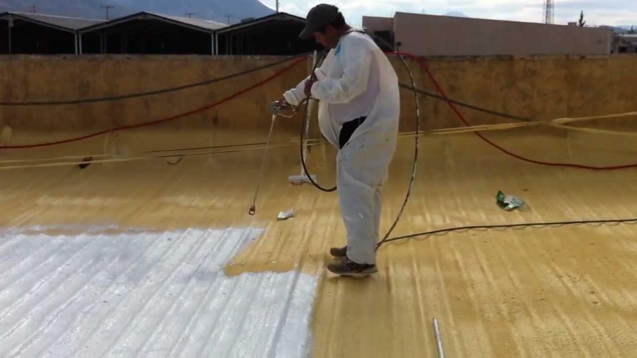 Airless graco gmax 5900 aplicando impermeabilizante en for Impermeabilizante para estanques de agua