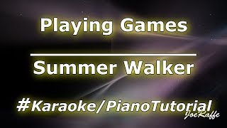 Summer Walker - Playing Games (Karaoke/Piano Tutorial)