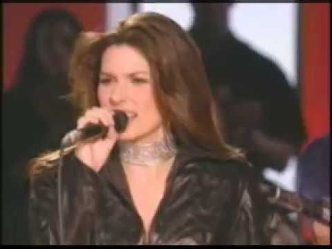 Shania Twain performed the AC/DC Classic's You Shook Me All Night Long at her Up! Close & Personal Show.
