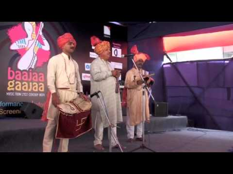 Dilip Garud - Gondhal Music of Maharashtra at Baajaa Gaajaa...
