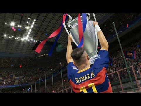 PES 2016 UEFA CHAMPIONS LEAGUE FINAL - Barcelona vs Real Madrid