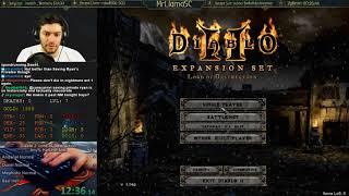 Diablo 2 - Hell Hardcore WR Sorc Speedrunning! (02/01/2018)