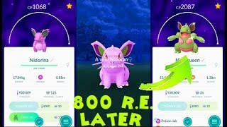 Pokemon Go Shiny Nidoran♀ Catch & Nidorina-Nidoqueen Evolution After 800 Tries