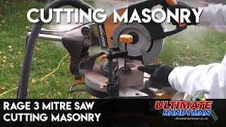 Rage 3s mitre saw cutting masonry
