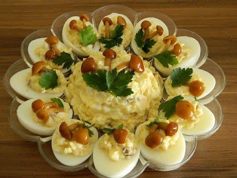 Яичный салат с опятами. Романтические рецепты. Просто Объедение