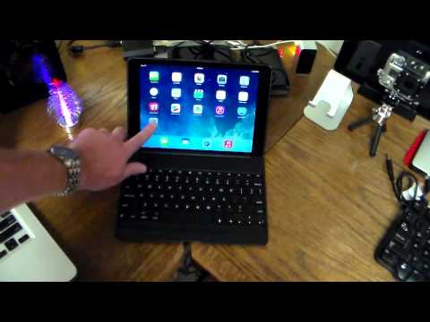 Zagg Keys Folio Backlit Keyboard Case for iPad Air Unboxing & Review