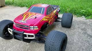 SAVAGE ADDICT: TEAM ASSOCIATED MGT 4.6 UPGRADE 17MM HEX AND PROLINE ROADRAGE ON DESPERADO RIMS