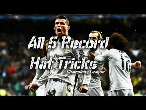 Cristiano Ronaldo ● All 5 Record Hat-Tricks in Champions League 2012-2016 HD