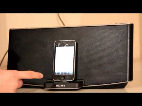Sony X series RDP-X200iP speaker dock with Bluetooth, review and sound test.