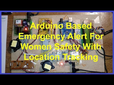 Emergency Alert For Women Safety With Location Tracking Using Arduino