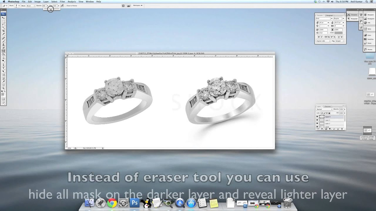 jewelry retouching editing touch up tutorial   2   youtube