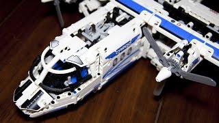 Lego Technic 42025 Cargo Plane and Hovercraft Speed Build with Power Functions