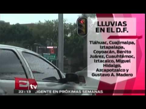 Severos daños por lluvias en la ciudad de México Titulares de la noche