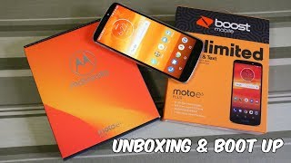 Moto E5 Plus Unboxing And First Boot Up (Boost Mobile) HD