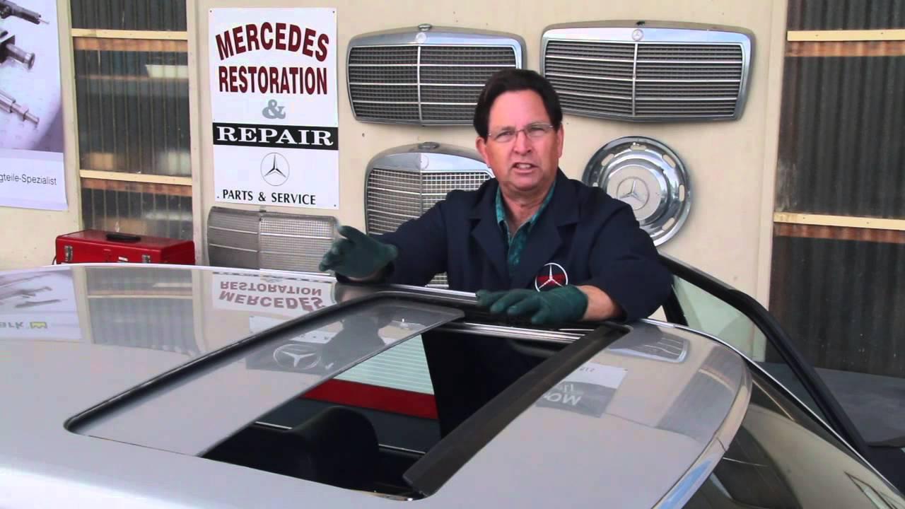 Mercedes Power Sunroof Maintenance Tip By Kent Bergsma Youtube