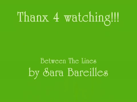 Between The Lines Lyrics by Sara Bareilles