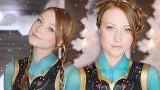 Anna FROZEN Makeup Tutorial (Clothes also painted on!)