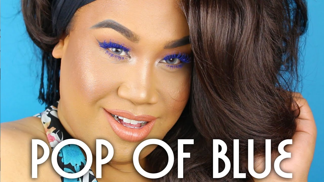 Pop of Blue Summer Makeup