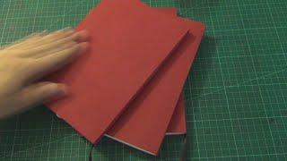 Perfect Binding; Simple and clean Sketchbook Bookbinding video - Tutorial coming soon