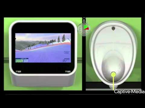 Urinal Gaming Let's You Play While You Pee video