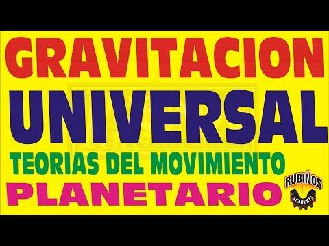 TEORIAS SOBRE EL MOVIMIENTO PLANETARIO-GRAVITACION UNIVERSAL