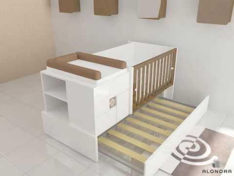 verwandelbare babybett k416 alondra youtube. Black Bedroom Furniture Sets. Home Design Ideas