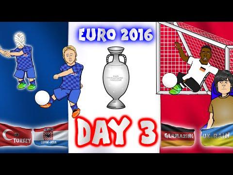 DAY 3! Euro 2016 (Germany vs Ukraine l Poland vs Northern Ireland l Turkey vs Croatia Highlights)