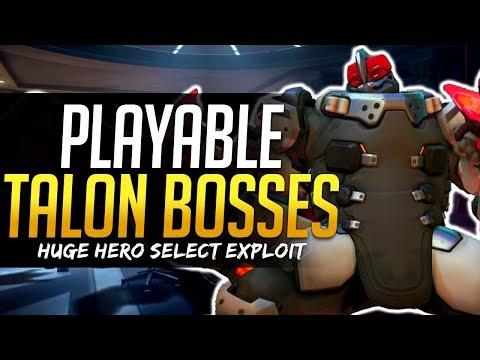 Overwatch PLAYABLE TALON BOSSES! - Hero Select Exploit!