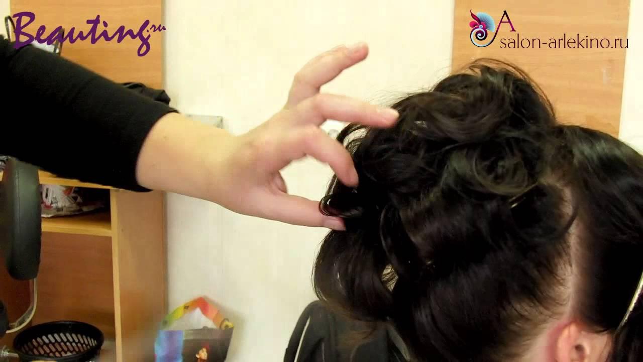 Укладка на коротких волосах. - YouTube